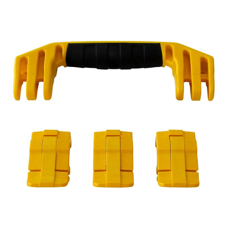 Yellow Replacement Handle & Latches for Pelican 1555 Air, One Yellow Handle, 3 Yellow Latches - Pelican Color Case