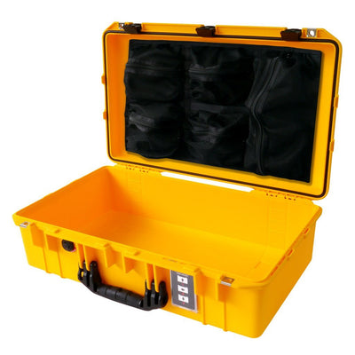 Pelican 1555 Air Colors Series, Yellow Air Case with Black Handles & Latches, Customizable Accessory Bundles - Pelican Color Case
