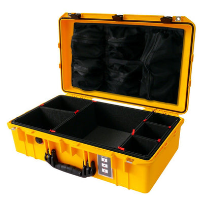 Pelican 1555 AIR COLORS Series, Yellow Protector Case with Black Handles & Latches, Customizable Accessory Bundles