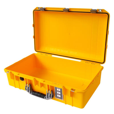Pelican 1555 Air Case, Yellow with Silver Handle & Latches - Pelican Color Case