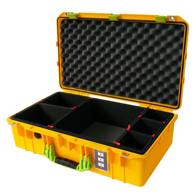 Pelican 1555 Air Case, Yellow with Lime Green Handle & Latches - Pelican Color Case