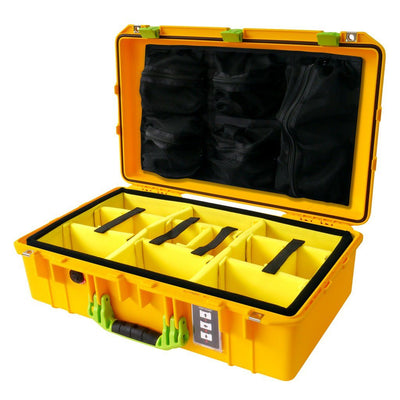 Pelican 1555 Air Colors Series, Yellow Air Case with Lime Green Handles & Latches, Customizable Accessory Bundles - Pelican Color Case
