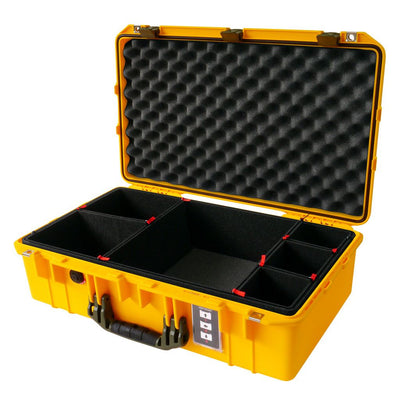 Pelican 1555 Air Case, Yellow with OD Green Handle & Latches - Pelican Color Case