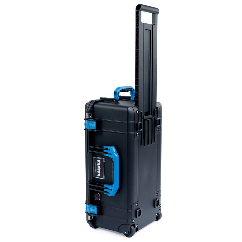 Pelican 1556 Air Case, Black with Blue Handles & Latches - Pelican Color Case