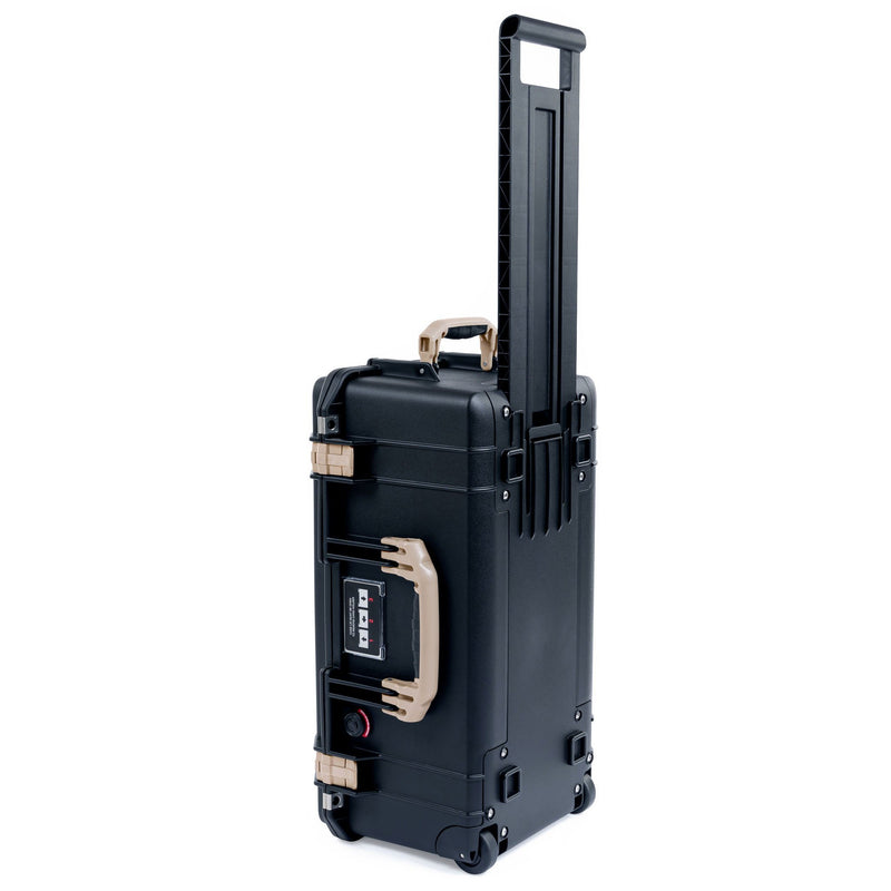 Pelican 1556 Air Case, Black with Desert Tan Handles & Latches - Pelican Color Case