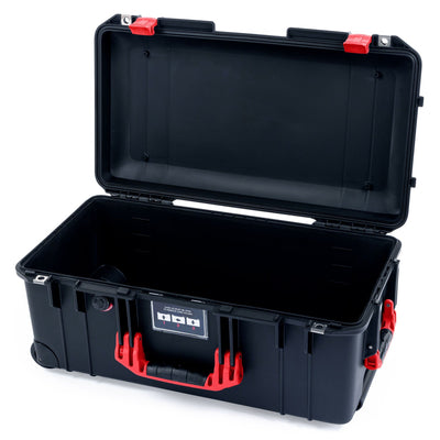 Pelican 1556 Air Case, Black with Red Handles & Latches - Pelican Color Case