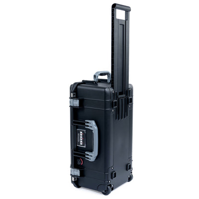 Pelican 1556 Air Case, Black with Silver Handles & Latches - Pelican Color Case