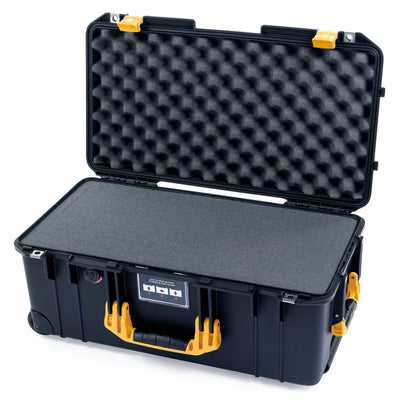 Pelican 1556 Air Case, Black with Yellow Handles & Latches - Pelican Color Case