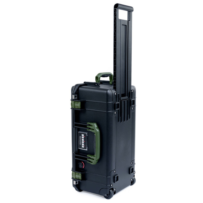 Pelican 1556 Air Case, Black with OD Green Handles & Latches - Pelican Color Case