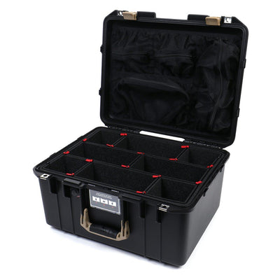 Pelican 1557 Air Colors Series, Black Air Case with Desert Tan Handle & Latches, Customizable Accessory Bundles - Pelican Color Case