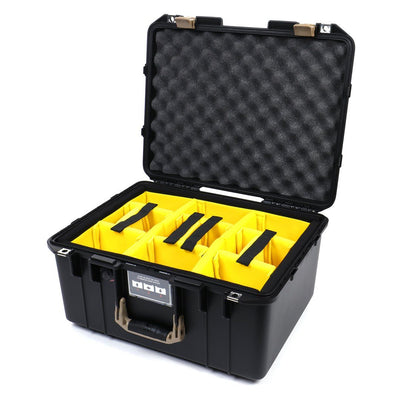 Pelican 1557 Air Case, Black with Desert Tan Handle & Latches - Pelican Color Case