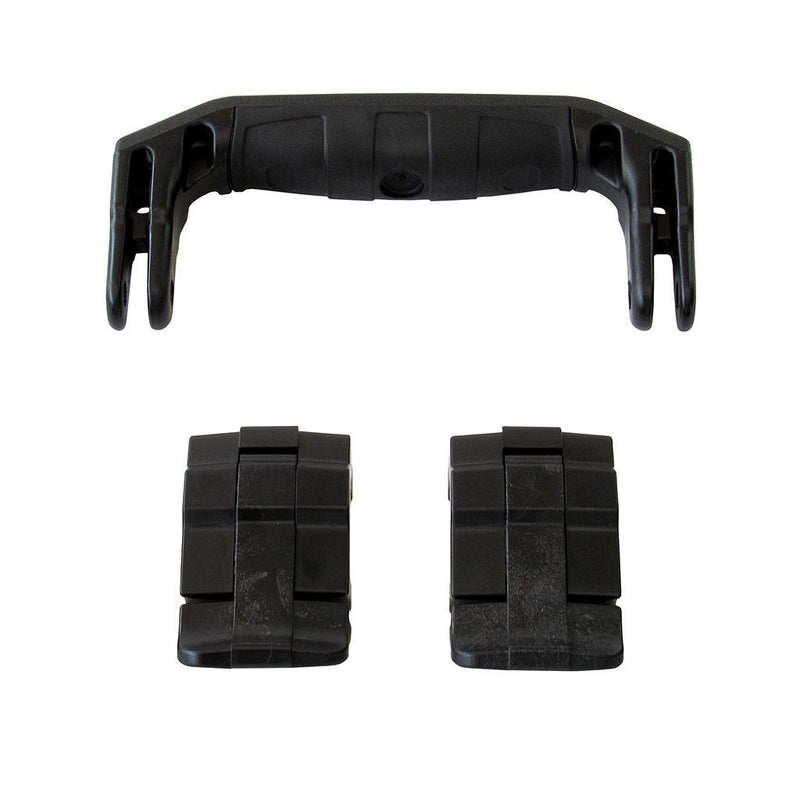 Black Replacement Handle & Latches for Pelican 1430 or 1557 Air, One Black Handle, 2 Black Latches - Pelican Color Case
