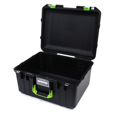 Pelican 1557 Air Case, Black with Lime Green Handle & Latches - Pelican Color Case