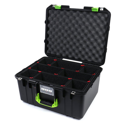 Pelican 1557 Air Colors Series, Black Air Case with Lime Green Handle & Latches, Customizable Accessory Bundles - Pelican Color Case