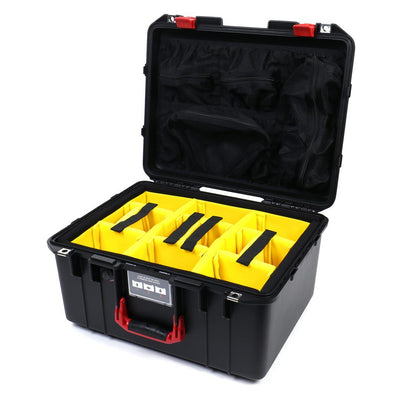 Pelican 1557 Air Colors Series, Black Air Case with Red Handle & Latches, Customizable Accessory Bundles - Pelican Color Case