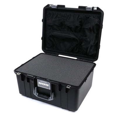 Pelican 1557 Air Colors Series, Black Air Case with Silver Gray Handle & Latches, Customizable Accessory Bundles - Pelican Color Case