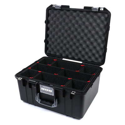 Pelican 1557 Air Case, Black with Silver Handle & Latches - Pelican Color Case