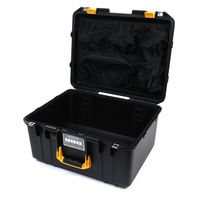 Pelican 1557 Air Colors Series, Black Air Case with Yellow Handle & Latches, Customizable Accessory Bundles - Pelican Color Case