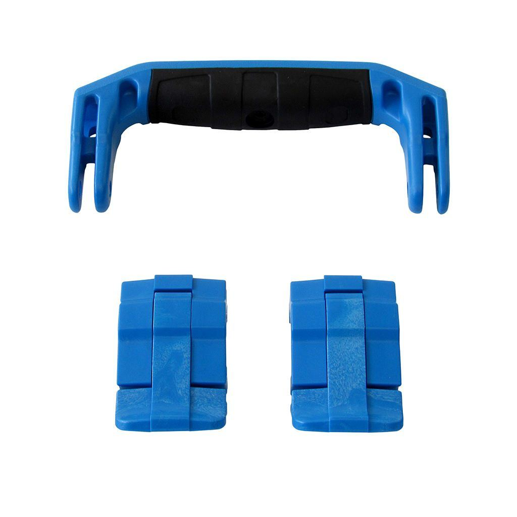 Blue Replacement Handle & Latches for Pelican 1430 or 1557 Air, One Blue Handle, 2 Blue Latches - Pelican Color Case