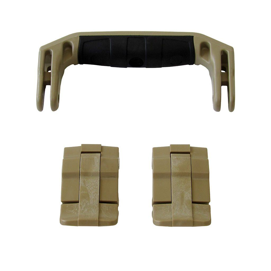 Desert Tan Replacement Handle & Latches for Pelican 1430 or 1557 Air, One Desert Tan Handle, 2 Desert Tan Latches - Pelican Color Case