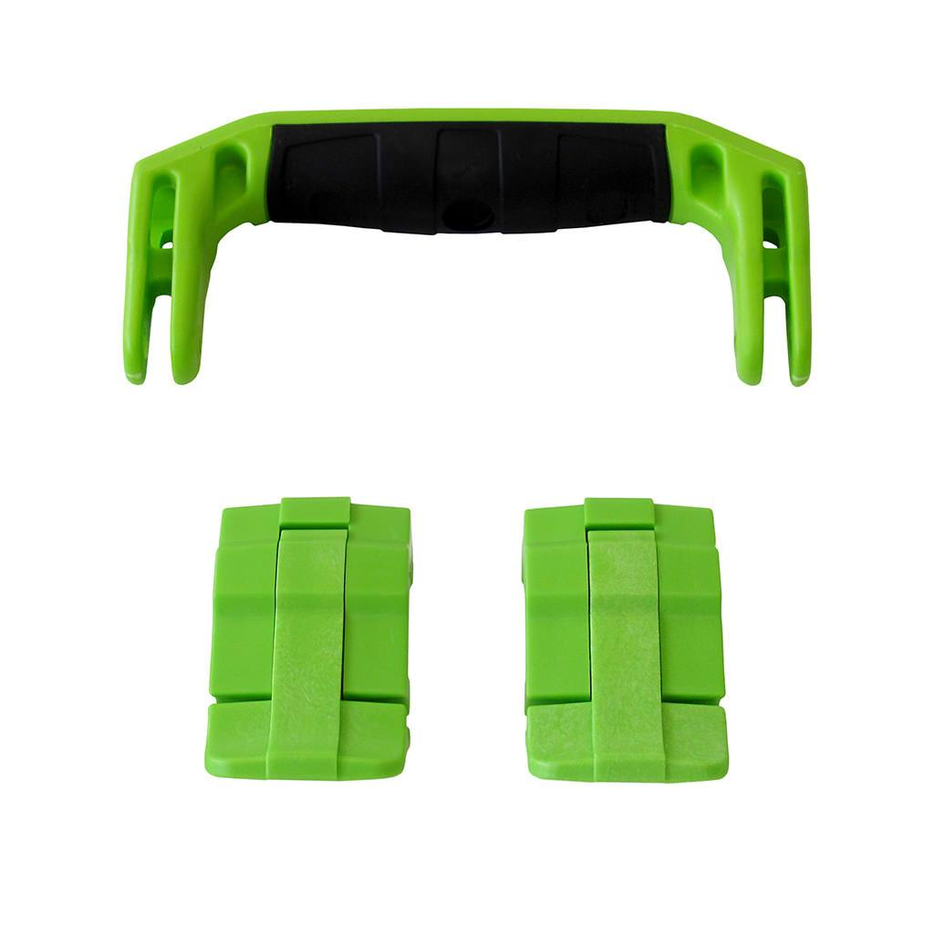 Lime Green Replacement Handle & Latches for Pelican 1430 or 1557 Air, One Lime Green Handle, 2 Lime Green Latches - Pelican Color Case