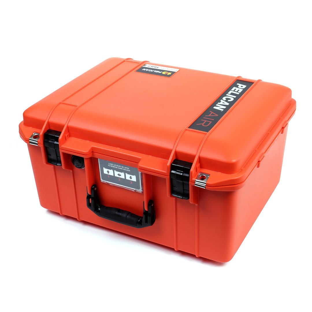 Pelican 1557 Air Case, Orange with Black Handle & Latches - Pelican Color Case