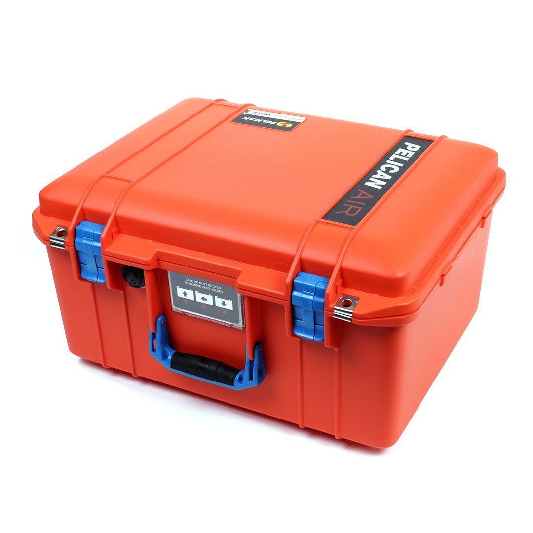 Pelican 1557 Air Case, Orange with Blue Handle & Latches - Pelican Color Case