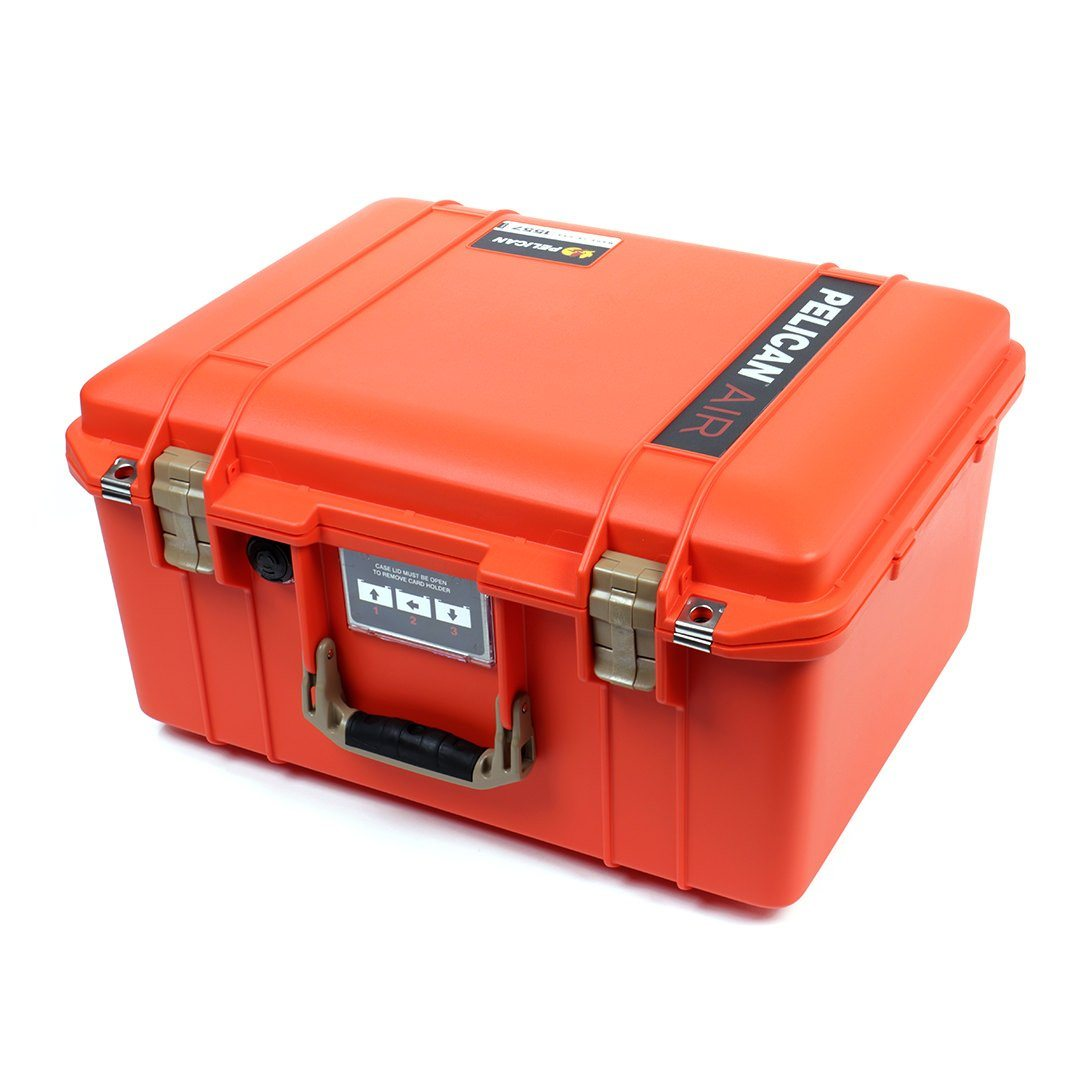 Pelican 1557 Air Case, Orange with Desert Tan Handle & Latches - Pelican Color Case