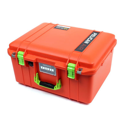 Pelican 1557 Air Case, Orange with Lime Green Handle & Latches - Pelican Color Case
