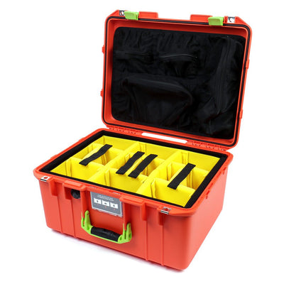 Pelican 1557 Air Colors Series, Orange Air Case with Lime Green Handle & Latches, Customizable Accessory Bundles - Pelican Color Case