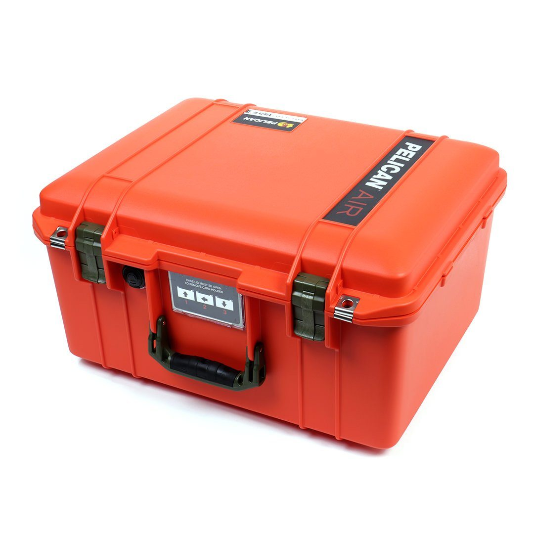 Pelican 1557 Air Case, Orange with OD Green Handle & Latches - Pelican Color Case