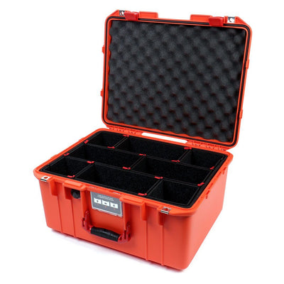 Pelican 1557 Air Case, Orange with Red Handle & Latches - Pelican Color Case