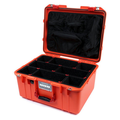 Pelican 1557 Air Colors Series, Orange Air Case with Red Handle & Latches, Customizable Accessory Bundles - Pelican Color Case