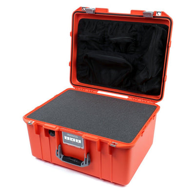 Pelican 1557 Air Colors Series, Orange Air Case with Silver Gray Handle & Latches, Customizable Accessory Bundles - Pelican Color Case