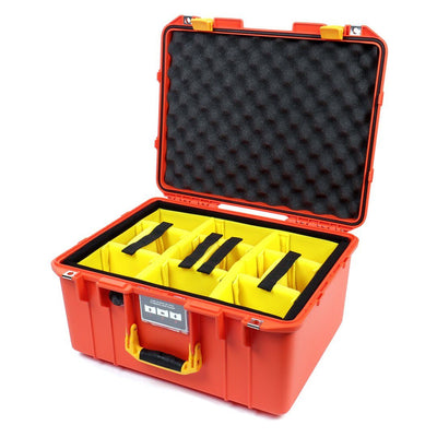 Pelican 1557 Air Case, Orange with Yellow Handle & Latches - Pelican Color Case