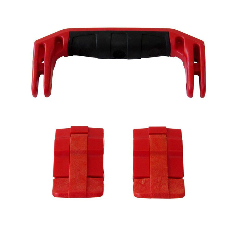Red Replacement Handle & Latches for Pelican 1430 or 1557 Air, One Red Handle, 2 Red Latches - Pelican Color Case
