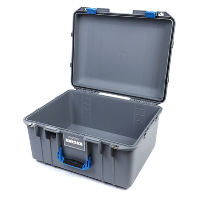 Pelican 1557 Air Colors Series, Silver Gray Air Case with Blue Handle & Latches, Customizable Accessory Bundles - Pelican Color Case