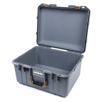 Pelican 1557 Air Colors Series, Silver Gray Air Case with Desert Tan Handle & Latches, Customizable Accessory Bundles - Pelican Color Case