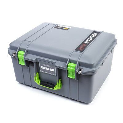 Pelican 1557 Air Colors Series, Silver Gray Air Case with Lime Green Handle & Latches, Customizable Accessory Bundles - Pelican Color Case