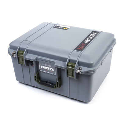 Pelican 1557 Air Case, Silver with OD Green Handle & Latches - Pelican Color Case