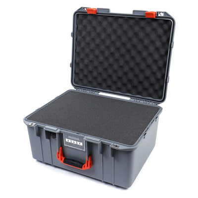 Pelican 1557 Air Colors Series, Silver Gray Air Case with Orange Handle & Latches, Customizable Accessory Bundles - Pelican Color Case
