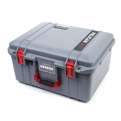 Pelican 1557 Air Case, Silver with Red Handle & Latches - Pelican Color Case