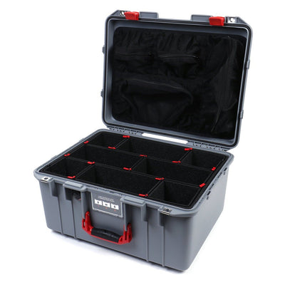 Pelican 1557 Air Colors Series, Silver Gray Air Case with Red Handle & Latches, Customizable Accessory Bundles - Pelican Color Case