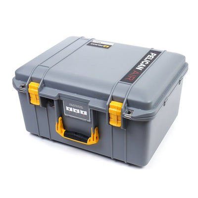 Pelican 1557 Air Colors Series, Silver Gray Air Case with Yellow Handle & Latches, Customizable Accessory Bundles - Pelican Color Case