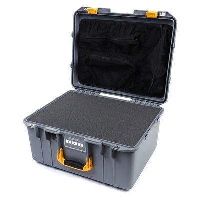 Pelican 1557 Air Case, Silver with Yellow Handle & Latches - Pelican Color Case