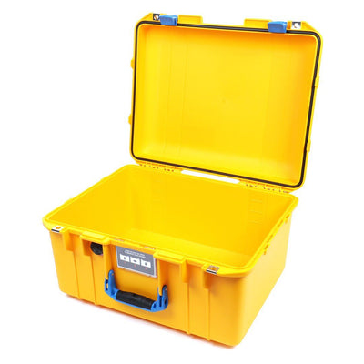 Pelican 1557 Air Colors Series, Yellow Air Case with Blue Handle & Latches, Customizable Accessory Bundles - Pelican Color Case