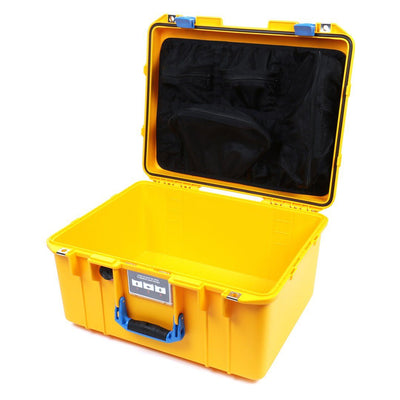 Pelican 1557 Air Case, Yellow with Blue Handle & Latches - Pelican Color Case