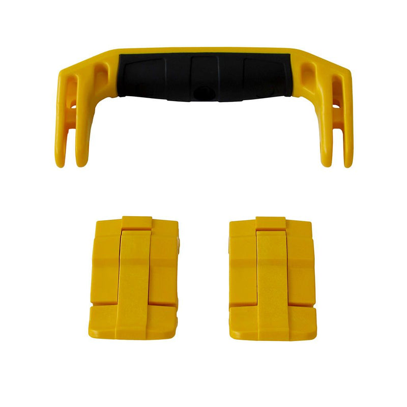 Yellow Replacement Handle & Latches for Pelican 1430 or 1557 Air, One Yellow Handle, 2 Yellow Latches - Pelican Color Case