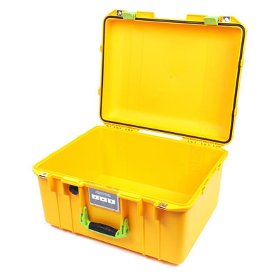 Pelican 1557 Air Case, Yellow with Lime Green Handle & Latches - Pelican Color Case