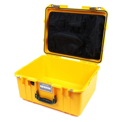 Pelican 1557 Air Colors Series, Yellow Air Case with OD Green Handle & Latches, Customizable Accessory Bundles - Pelican Color Case